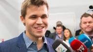 Ein glücklicher und erleichterter Sieger: Magnus Carlsen