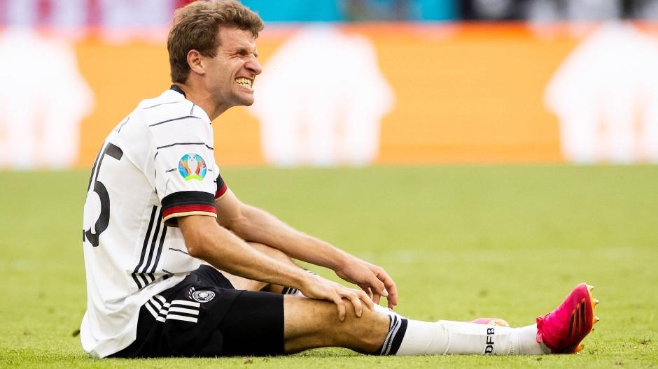 Schmerz lass nach: Thomas Müller im Portugal-Spiel