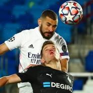 Deutlich unterlegen: Borussia Mönchengladbach um Matthias Ginter (unten) beim Spiel in Madrid