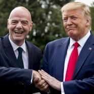 Gemeinsames Treffen mit dem amerikanischen Präsidenten Donald Trump: Gianni Infantino (links) im Kreis der Großen und Mächtigen