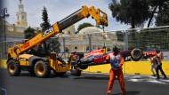 Daniel Ricciardo erwischte es in Baku beim Training