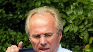 Englands Fußball-Nationaltrainer Sven-Göran Eriksson