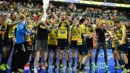 Schon wieder Meister: Die Rhein-Neckar Löwen feiern den Titel.