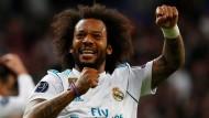 Marcelo hatte nach dem Einzug ins Finale mit Real Madrid gut lachen.
