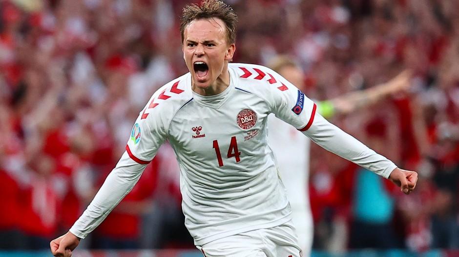 Brachte Dänemark mit einem Distanzschuss in die Spur: Mikkel Damsgaard