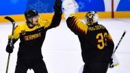 Jubel nach deutschem Eishockey-Krimi