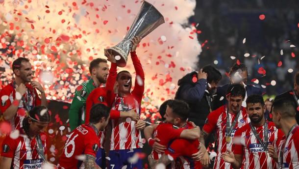 Griezmann schießt Atlético Madrid beim 3:0 gegen Olympique Marseille auf den Thron