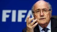 Selbstsicher, wie eh und je: Fifa-Präsident Blatter