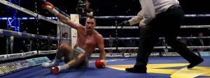 Auf dem Boden in Wembley: Wladimir Klitschko nach dem technischen K.o.