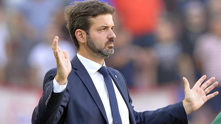 Fußballtrainer: Andrea Stramaccioni, hier 2017 in Prag