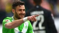 Wolfsburg Werbung für das Pokalfinale