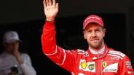 Der Anfang ist gemacht: Sebastian Vettel gewann im Ferrari das erste Rennen der Saison.