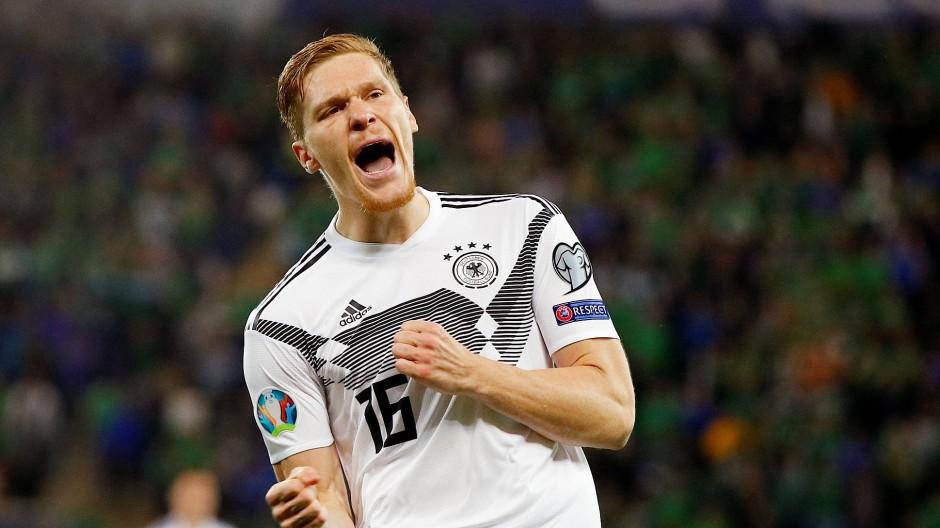 Sein erstes Länderspieltor: Marcel Halstenberg freut sich zurecht