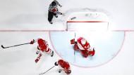 Ratlose Wikinger: Die Russen haben ein Tor gegen Dänemark erzielt.