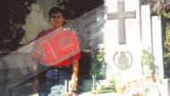 Am Grab des Nazi-Vasallen: Davor Suker im Jahr 1996