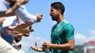 """""""All die Gerüchte und persönlichen Anfeindungen, das geht nicht"""": Sami Khedira."""