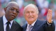Er will zuletzt lachen: Jack Warner (links) und Joseph Blatter, als sie noch Kollegen waren