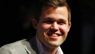 """""""Ich würde sagen, ich hatte heute einen ziemlich guten Tag auf der Arbeit"""": Magnus Carlsen."""
