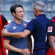 Wiedersehen mit alten Bekannten: Niko Kovac (Zweiter von links) war mit seinem neuen Team Monaco zu Gast bei seinem früheren Team Frankfurt.