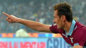 Klose mit Lazio in der Champions League