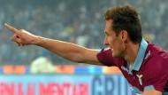 Klose mit Lazio in der Champions League