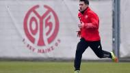 Leichtfüßigkeit ist gefragt: DIe Trainingsplätze belastet Bojan weniger als andere - hilft er Mainz 05 nach zwei Spielen auf der Bank in Darmstadt acuh im Spiel?