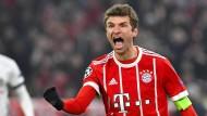 Thomas Müller steuerte zwei Treffer zum 5:0-Sieg über Besiktas bei.