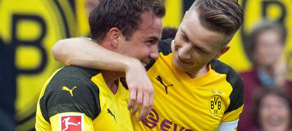 c663ffae392ec1 Mario Götze mit Tor bei 4 3 des BVB über FC Augsburg