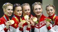 Nicht nur die Sportgymnastinnen holten in Rio Gold für Russland.