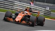 Noch fährt McLaren hinterher: Stoffel Vandoorne darf aber auf Besserung hoffen