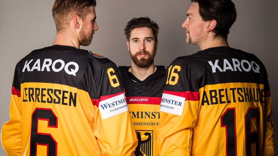Entschlossen: Die deutschen Eishockeyspieler wollen was erreichen bei Olympia