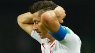 Kein Punkt, kein Tor: Lewandowski und Polen scheiden aus.