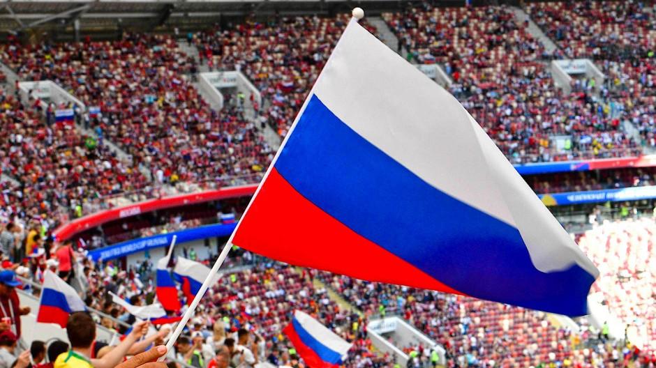 Eine russische Mannschaft wie hier bei der Fußball-WM 2018 wird es in Qatar nicht zu bejubeln geben.