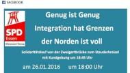 Mit diesem Facebook-Post rief die Essener SPD zur Demonstration auf
