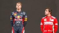 Kann man sich diese beiden in einem Team vorstellen? Sebastian Vettel und Fernando Alonso
