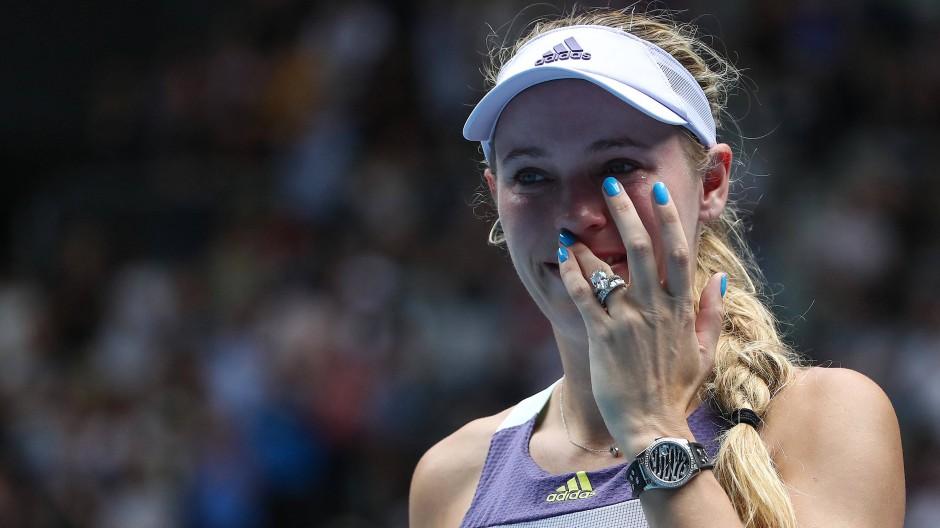 Abschied mit Tränen: Caroline Wozniacki beendet ihre Karriere.