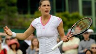Frustriert: Andrea Petkovic ist in Wimbledon ausgeschieden