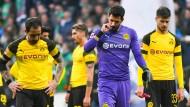 Die Enttäuschung ist den Dortmundern ins Gesicht geschrieben.