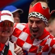 Grund zur Freude: kroatische Fans bei der Handball-EM in Wien