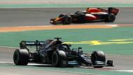 Keiner ist in Portugal schneller als Lewis Hamilton im Mercedes.