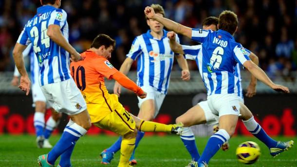 Messi setzt sich auch gegen vier Basken durch - am Ende verliert Barcelona dennoch