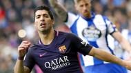 Luis Suarez traf zwar, Barcelona verlor trotzdem 1:2 in La Coruna.