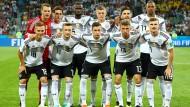 Die deutsche Startelf vor dem WM-Spiel gegen Schweden.
