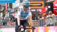 Der britische Radprofi Christopher Froome bei der 18. Etappe der Giro d'Italia.