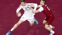 Rot-weiß-rot: Österreichs Handball-Nationalmannschaft verliert gegen das Gastgeber-Team