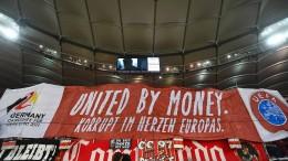 VfB-Fans demonstrieren gegen Bewerbung um Euro 2024