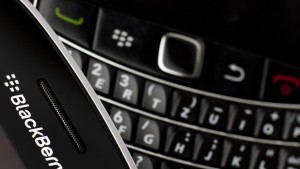 Research in Motion (RIM) BlackBerry smartphone handsets are pictured in this illustration picture taken in Lavigny