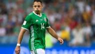Der Stolz der Mexikaner ist in die Jahre gekommen: Der einst in Manchester, Madrid und Leverkusen spielende Chicharito