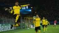 Abgehoben: Pierre-Emerick Aubameyang freut sich sichtlich übers 1:0
