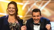 Sportlerin des Jahres Christina Schwanitz mit Jan Frodeno: Weltniveau aus Leidenschaft